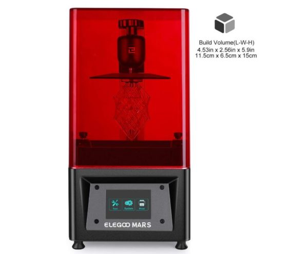 ELEGOO Mars UV Photocuring LCD 3D Printer with 3.5 Smart Touch Color Screen - BestCartReviews
