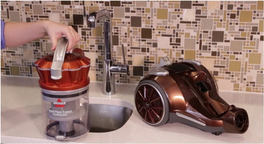 Bissell vacuum cleaner - bissell hard floor expert multi-cyclonic bagless canister vacuum review