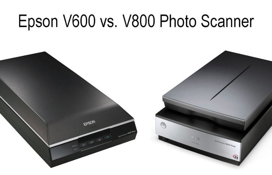 compare epson perfection v600 and v800