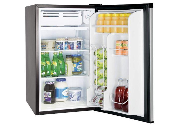 rca rfr322-b 3.2 cu ft single door mini fridge with freezer rfr322 platinum stainless steel