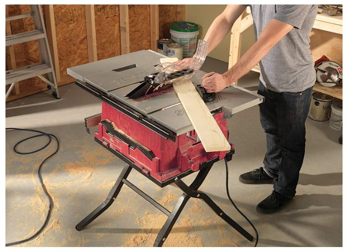 skil 10 corded table saw with folding stand