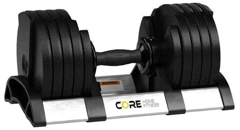 core fitness adjustable dumbbell weight set review