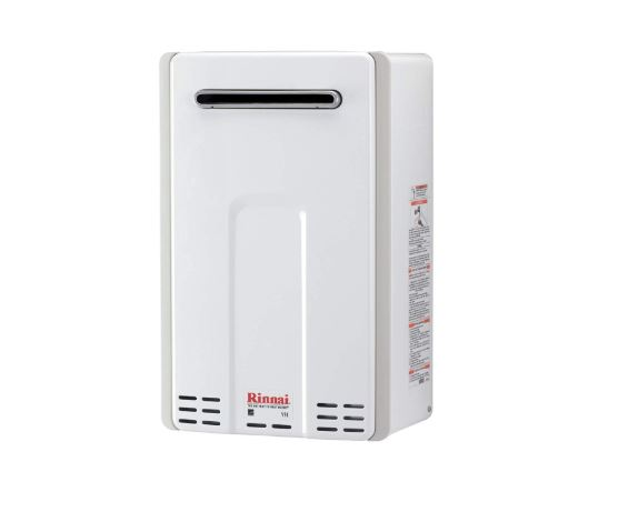 rinnai v series he tankless hot water heater outdoor installation