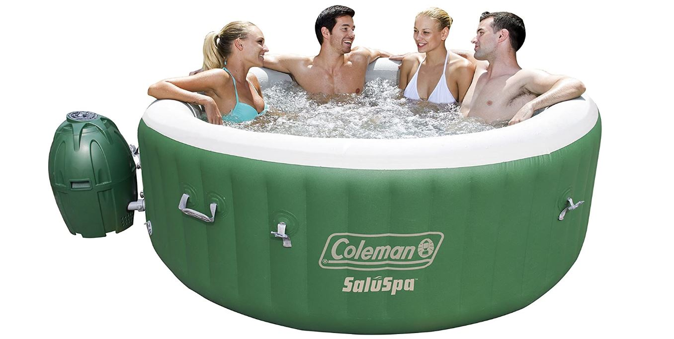 Coleman SaluSpa Inflatable Hot Tub Spa, Green & White-BestCartReviews