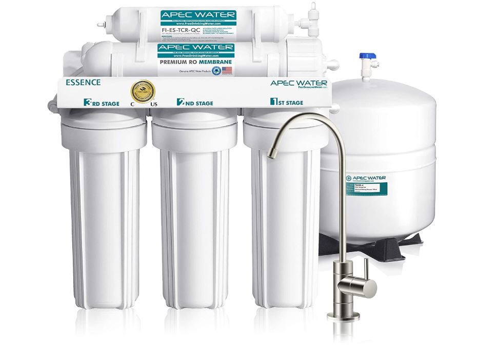 APEC Top Tier 5-Stage Ultra Safe Reverse Osmosis Drinking Water Filter System - BestCartReviews.com