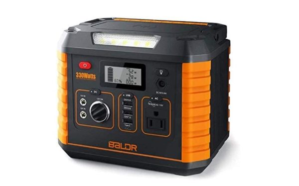 Baldr Portable Power Station 330w - Portable Solar Generators for home use - BestCartReviews
