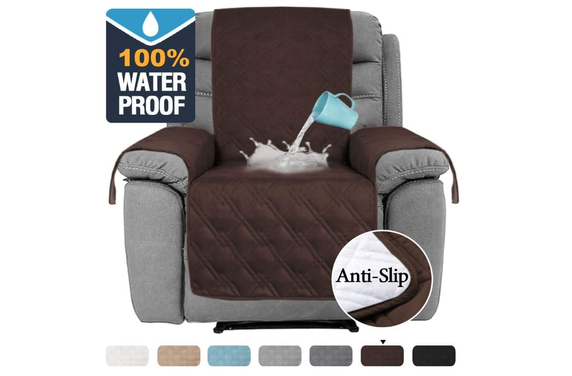 recliner sofa covers-Water Proof Oversized Recliner Chair Covers Furniture Cover Seat Width Up to 30 Inch Slip Resistant Stay