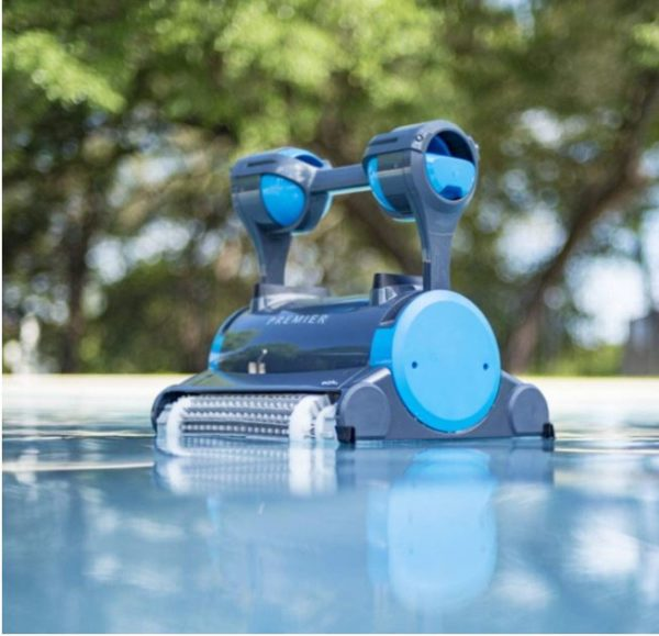 Dolphin Premier Robotic Pool Cleaner with Powerful Dual Scrubbing Brushes