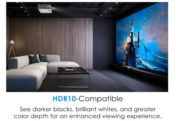 Optoma UHD50 True 4K Ultra High Definition DLP Home Theater Projector for Entertainment and Movies