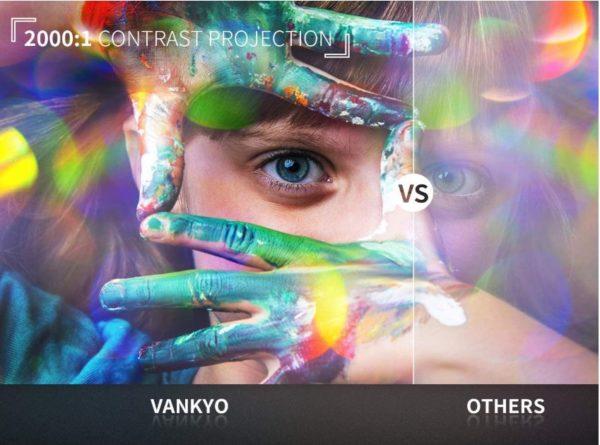 VANKYO LEISURE 3 Mini Projector - Portable Movie Projector