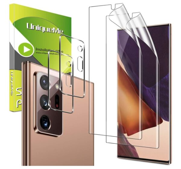 4 Pack UniqueMe 2 Pack Camera Lens Protector for Samsung Galaxy Note 20 Ultra