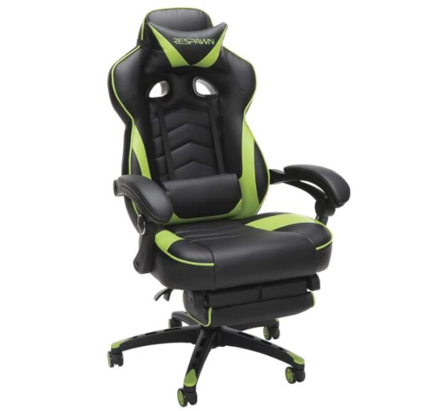 Racing Style Gaming Chair, Reclining Ergonomic Leather Chair with Footrest - BestCartReviews