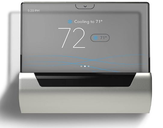 GLAS Smart Thermostat by Johnson Controls, Translucent OLED Touchscreen - BestCartReviews