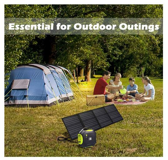 Portable Foldable Solar Panel Charger Kit by BestCartReviews
