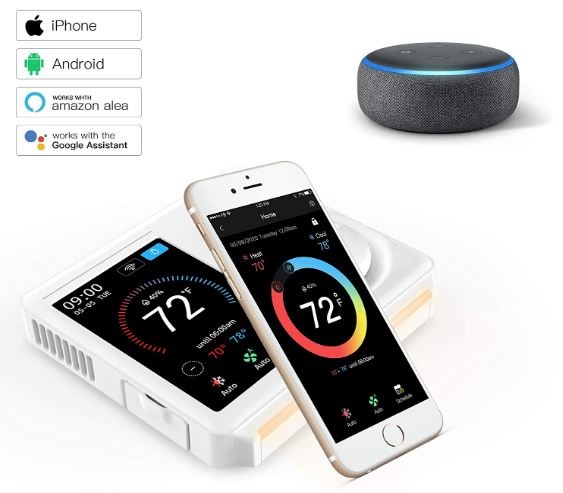 Vine Programmable Smart Home Thermostat-Compatible with Alexa & Google Assistant - 5th Gen